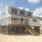 Lifted house on the Jersey Shore